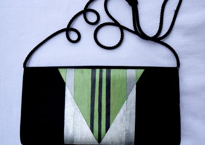 Green Art Deco evening bag